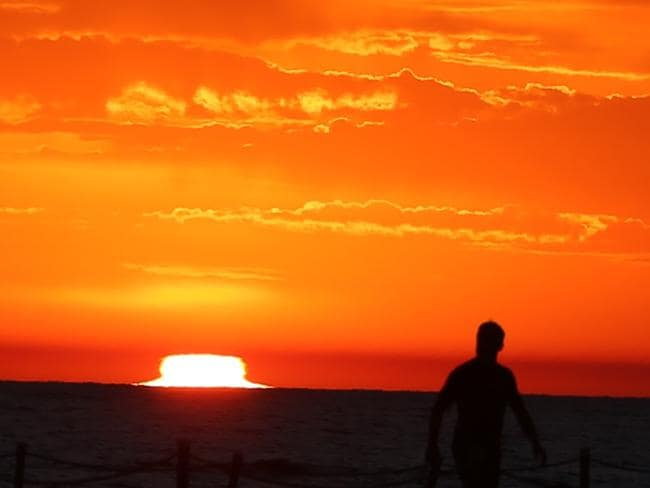 Sunrise at Collaroy today before temperatures began to rise. Picture: John Grainger