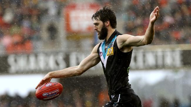 Port's Justin Westhoff was a prime mover, and he kicked a sensational goal. Picture: David Clark