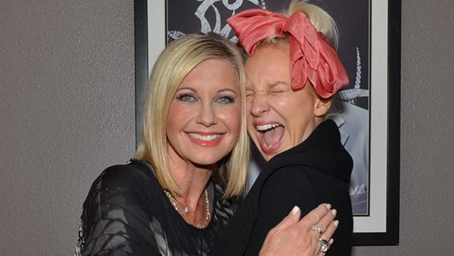 Best meet and greet photo ever ... Sia loses it meeting her hero Olivia Newton-John in Vegas.