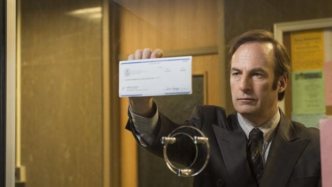 Big following ... Bob Odenkirk plays lawyer Jimmy McGill, before taking on the pseudonym Saul Goodman, in a scene from Better Call Saul.