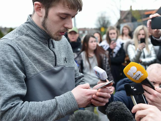 Tom Evans, Alfie's father, said the fight was 'is not over' as he and Alfie's mum Kate James were blocked by the Supreme Court from taking the toddler to Italy for medical treatment. Picture: AFP Photo/Paul Ellis
