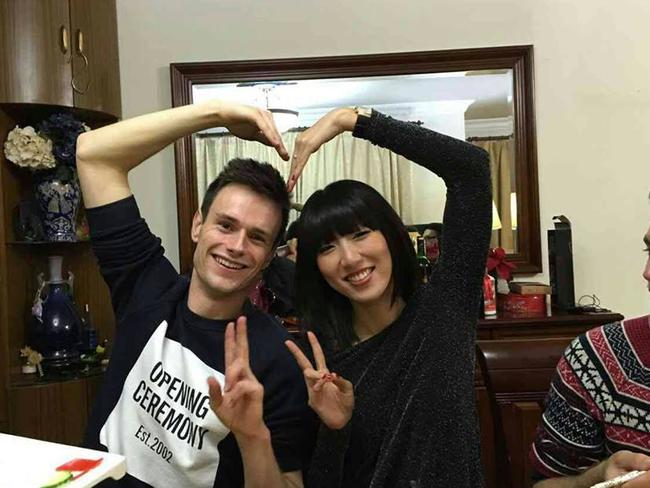 The couple during a visit to Ms Guo's family in Shanghai.