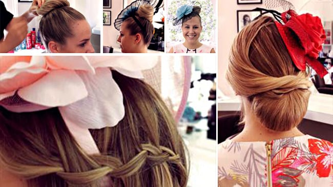 Inspiration! Top - the bun; Bottom - the wavy braid; Side - the Chigon. Pictures: Herbal Essences