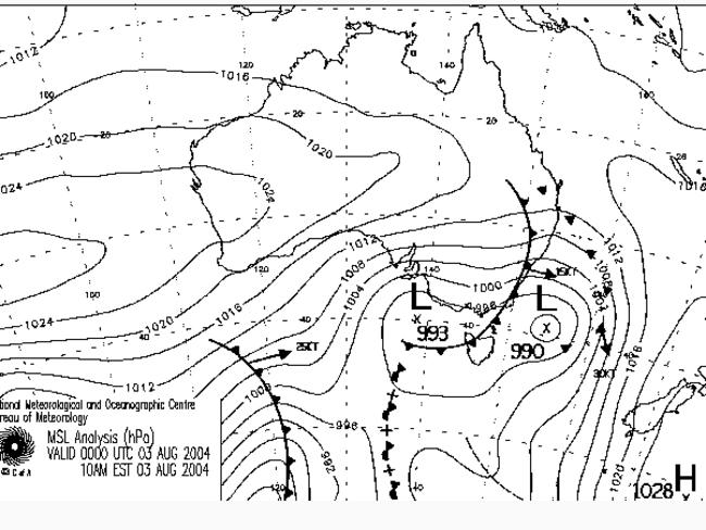 Compare this 2004 weather chart from today's charts pictured higher up. As you can see, they are nearly identical. This 2004 storm brought a metre or so of snow, hence the optimism for today's event. Woo-hoo.