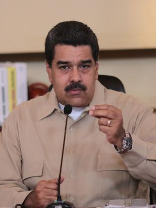 Venezuelan President Nicolas Maduro is determined to hold onto power. Picture: AFP