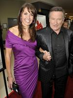 "Actor Robin Williams (R) and Susan Schneider arrive at the premiere of Magnolia Pictures' ""World's Greatest Dad"" at The Landmark Theater on August 13, 2009 in Los Angeles, California. .Picture: Getty"