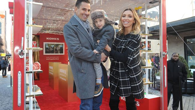 Bill Rancic, son Duke Rancic - who was born via surrogate - and Giuliana Rancic. Photo: Getty