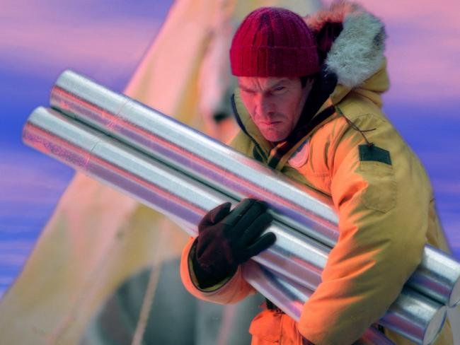 Dennis Quaid in the opening sequence of the 2004 disaster film The Day After Tomorrow. The loss of a huge part of the Antarctic ice sheet prompted environmental catastrophe in that movie, but scientists say the impacts of the icy continent's new trillion-ton iceberg will be less immediate.