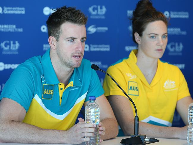 Australian sprint stars James Magnussen and Cate Campbell.