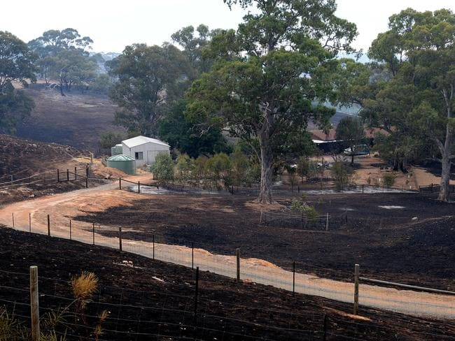 Saved ... This property at Kersbrook was saved from the fire at the weekend. Picture Campbell Brodie.