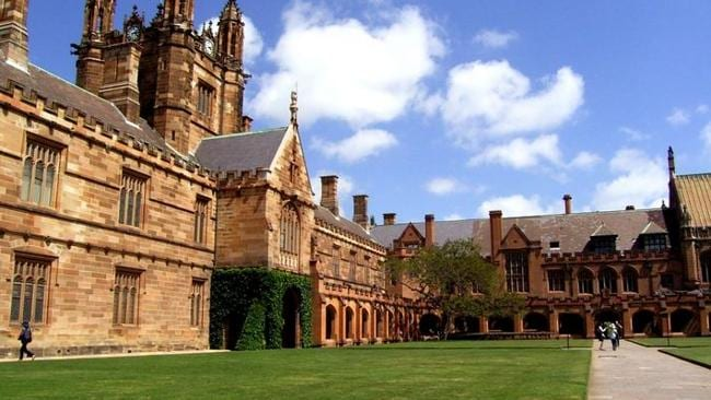 The University of Sydney's main quadrangle.
