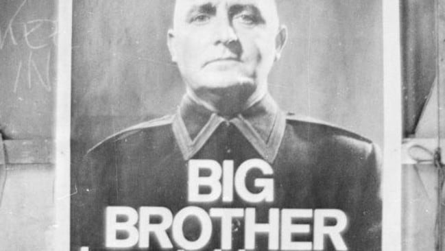 A poster from a BBC TV production of George Orwell's classic novel '1984'. Photo: Getty Images