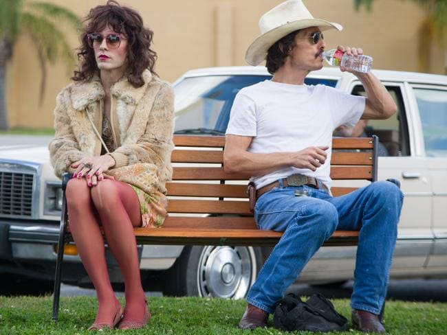 Gender switch ... Jared Leto and Matthew McConaughey in Dallas Buyers Club.