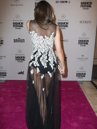 She walked the red carpet for the Mercedes-Benz Fashion Festival.