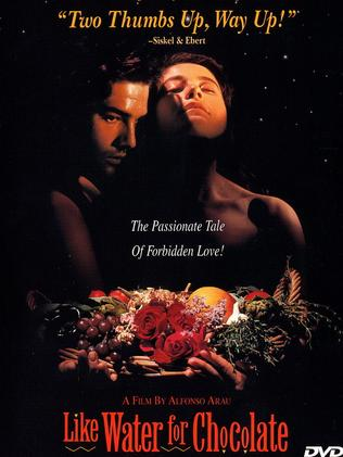 The DVD cover of 1992 film Like Water for Chocolate.