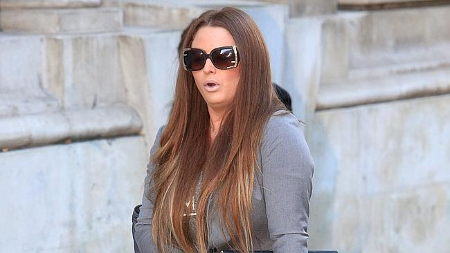 Mandy Cool, 29, arrives at Bristol Crown Court.