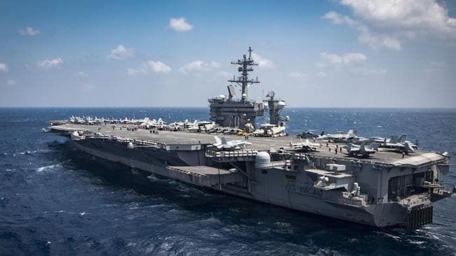 The USS Carl Vinson never did make it to the Korean Peninsula. Picture: AFP/Navy Media Content Operations/MC3 Brenton Poyser
