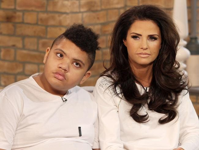 Shocking admission ... Katie Price said she would have aborted son Harvey if she knew about his disabilities. Picture: Rex Features/Splash News