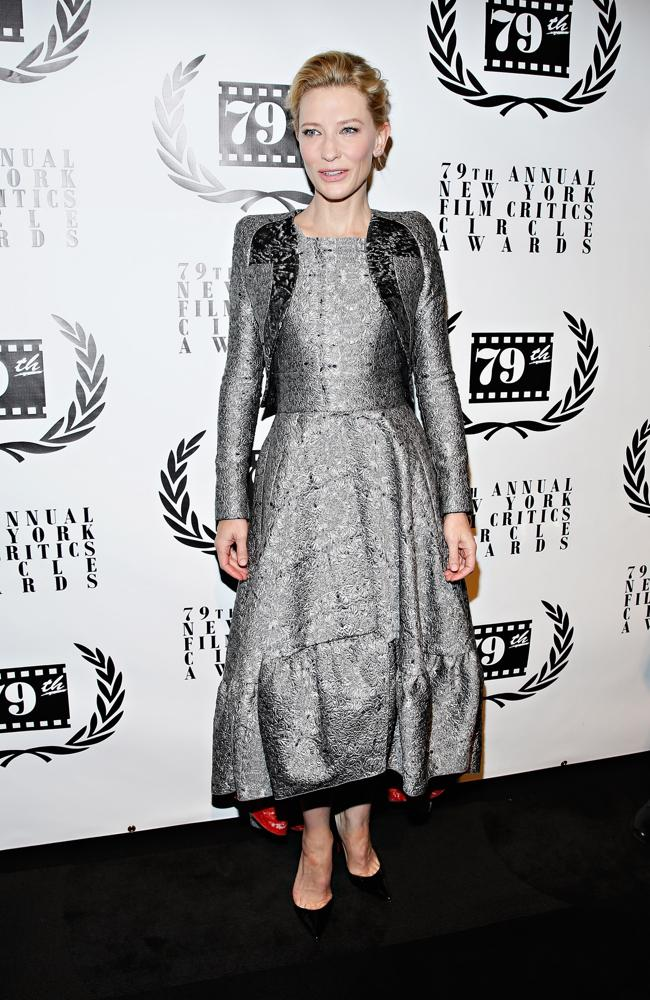 Cate Blanchett attends the 2013 New York Film Critics Circle Awards Ceremony, in New York City. Source: Getty Images