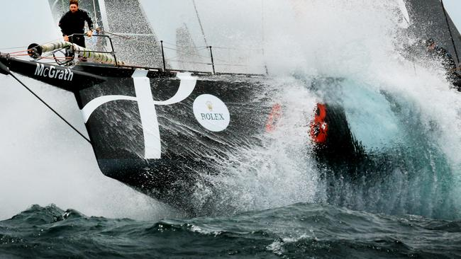 Perpetual Loyal bowman John Flannery in the firing line in last year's Sydney to Hobart.