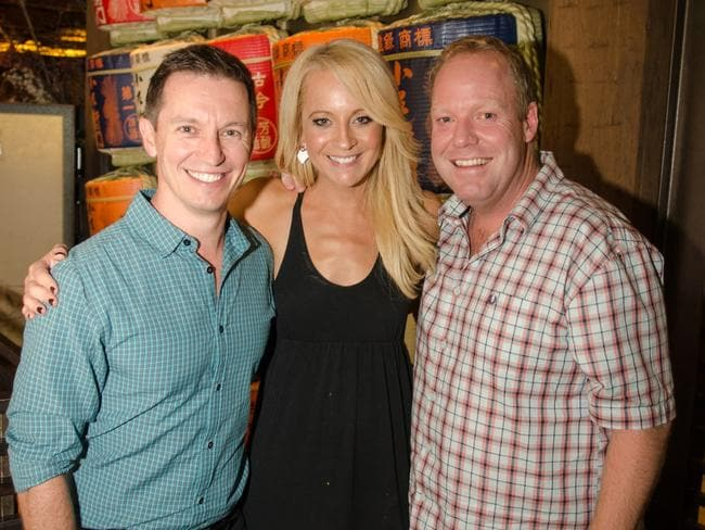 Rove McManus, Carrie Bickmore and Peter Helliar.