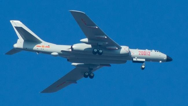 Australia in its reach ... The H-6K strategic bomber can fly out to 3500km from its home air base, and the cruise missiles it carries can travel a further 2000km. Source: PLA