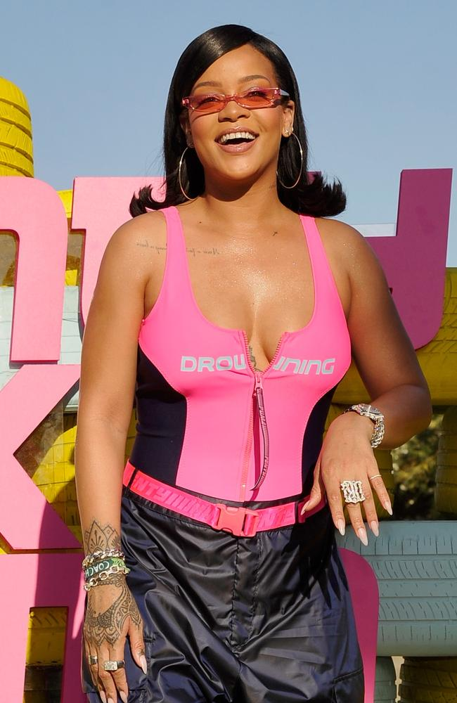 Pretty in pink ... Rihanna. Picture: Getty Images