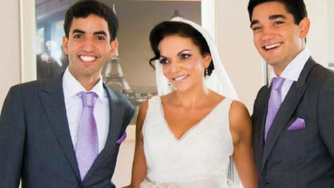 Anne's sons Adam and Karim walked her down the isle in 2013. Photo: Supplied