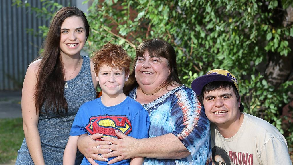 Mother of the Year Val Bettens with three of her children – Stephanie, Lincoln and Todd. Picture: Dylan Coker.