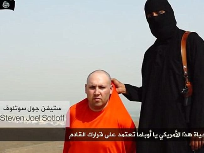 Execution threat ... Islamic State has threatened the life of another captured journalist, said to be Steven Joel Sotloff, if the United States does not cease air operations over Iraq.