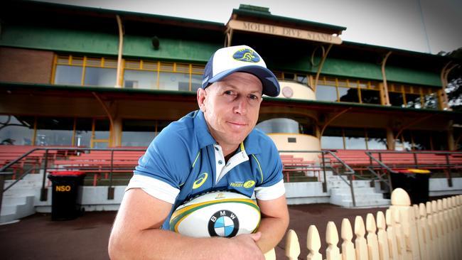 Australia under-20 coach Simon Cron at North Sydney Oval.