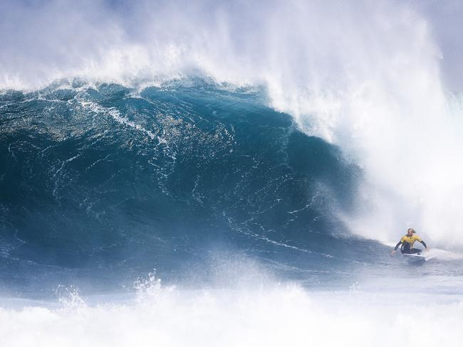 The surf got massive during the event but that wasn't the only danger. Picture: AAP/Ed Sloane