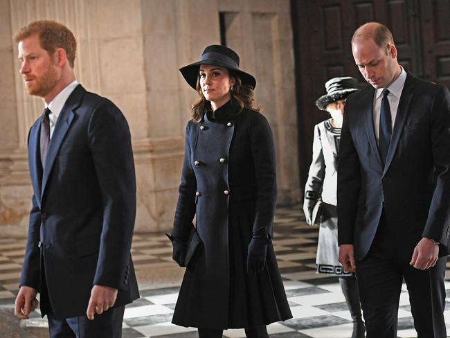 Harry, Kate, William, Prince Charles and Camilla were in attendance.