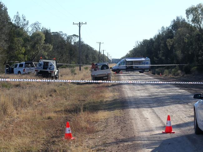 The crime scene on Talga Lane / Picture: John Grainger