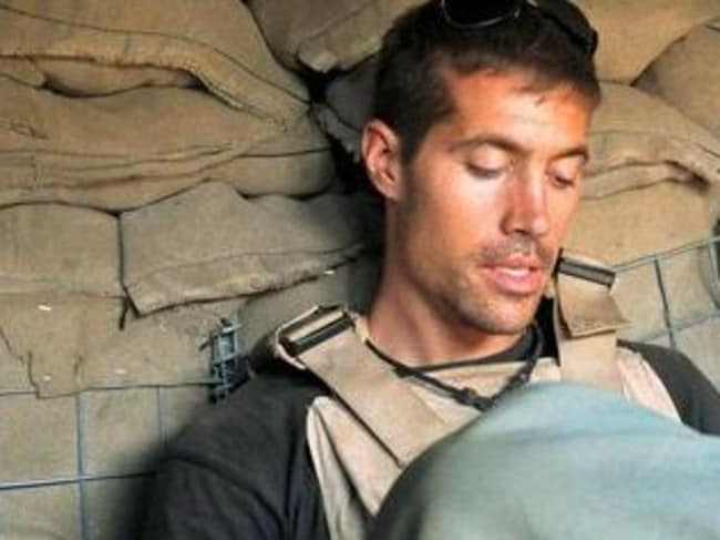 Brutal....US journalist James Foley, who was abducted in Syria in 2012 and was beheaded by Islamists in Iraq, in a video posted online. Picture: Twitter