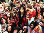 <p>Alice Cooper poses with zombies backstage at his Halloween Night Of Fear lll concert at Wembley Arena in London. Picture: AP Photo / Ian West</p>