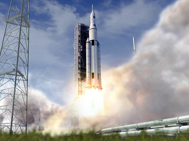 We have lift-off: Space Launch System gets go ahead for full production. Image credit: NASA (Concept updated July 30, 2013)