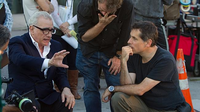 """Martin Scorsese, left, with cinematographer Rodrigo Prieto during the filming of """"The Wolf of Wall Street."""""""