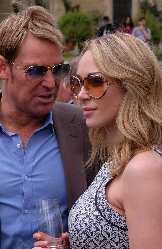 Shane Warne and Emily Scott. Picture: Splash