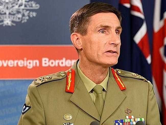 In charge of deterring illegal boat smugglers ... Lieutenant General Angus Campbell.