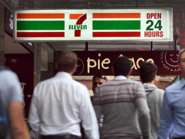 The chairman and chief executive of 7-Eleven convenience stores in Australia resigned in 2015, following allegations that franchises systematically underpaid workers. Picture: William West/AFP