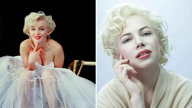 One of the most famous faces in Hollywood's history, Marilyn Monroe (left) was played by actor Michelle Williams (right) in 'My Week With Marilyn' in 2011.