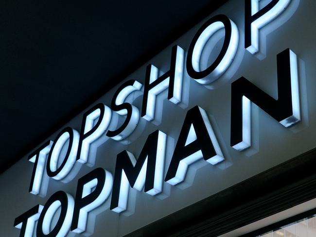 Topman and Topshop signage outside a retail store in Sydney, Thursday, May 25, 2017. The company operating Topshop's Australian stores has entered voluntary administration, becoming the latest in a list of retailers to stumble amid sluggish consumer spending. (AAP Image/Joel Carrett) NO ARCHIVING