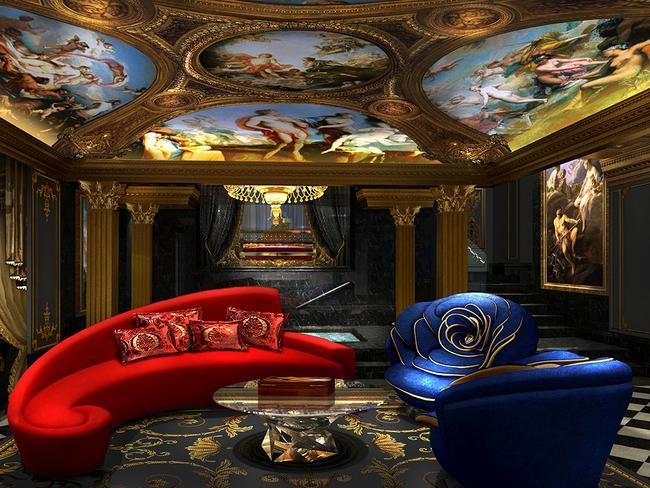 'Diamond series' chrome furniture adorns the living rooms. Picture: Louis XIII Holdings Limited