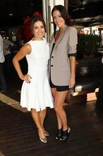 <p>Channel 7 hosts dinner at Hugos Manly to launch a new season of My Kitchen Rules. ( L to R ) Ada Nicodemou and Esther Anderson Picture: Richard Dobson</p>
