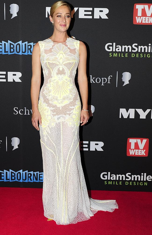 Asher Keddie wearing J'Aton at the 2012 Logie Awards.