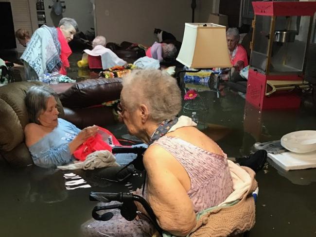 The flood hit 'La Vita Bella' nursing home in Dickinson, Texas. Picture: Timothy J. McIntosh/@DividendsMGR/Twitter
