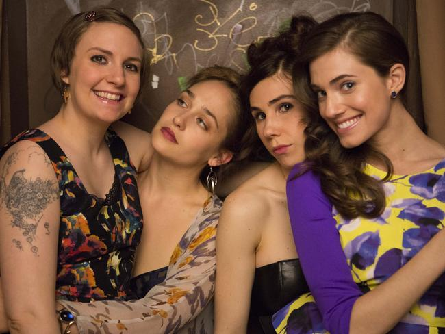 Success story ... 'Girls' cast members, from left, Lena Dunham, Jemima Kirke, Zosia Mamet and Allison Williams.