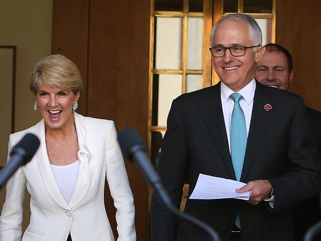 Minister for Foreign Affairs Julie Bishop and Prime Minister Malcolm Turnbull said they have faith in the quality of the Dutch legal system. Picture: Kym Smith