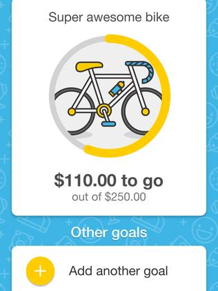 The Commonwealth Bank Youth banking app allows children to set savings goals.